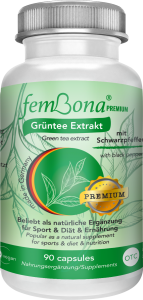femBona® Grüntee Extrakt supporting diet and fitness